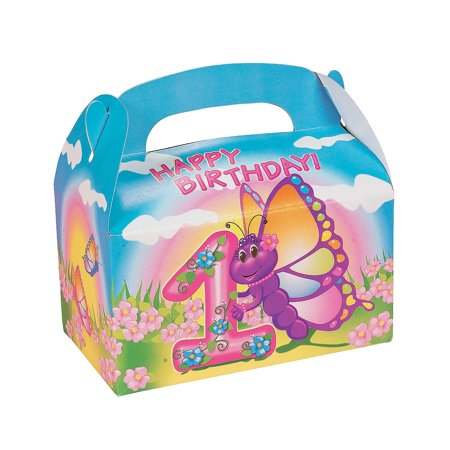 IN-70/6495 Butterfly 1st Birthday Treat Boxes Per Dozen](Butterfly First Birthday)