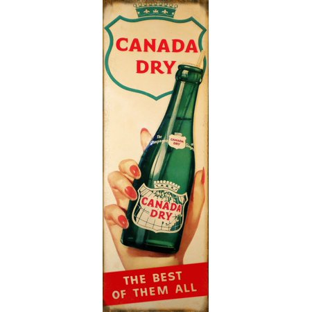 Nostalgic Canada Dry The Best Country Advertisement Sign 6 X18    Csrg7340