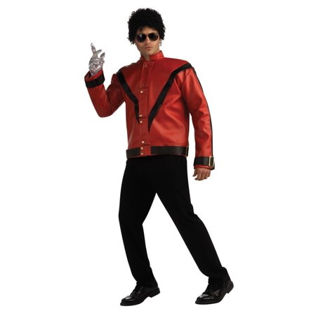 45dd124d Deluxe Michael Jackson Jacket Adult Costume Thriller Jacket (Red & Black) -  Small - Walmart.com