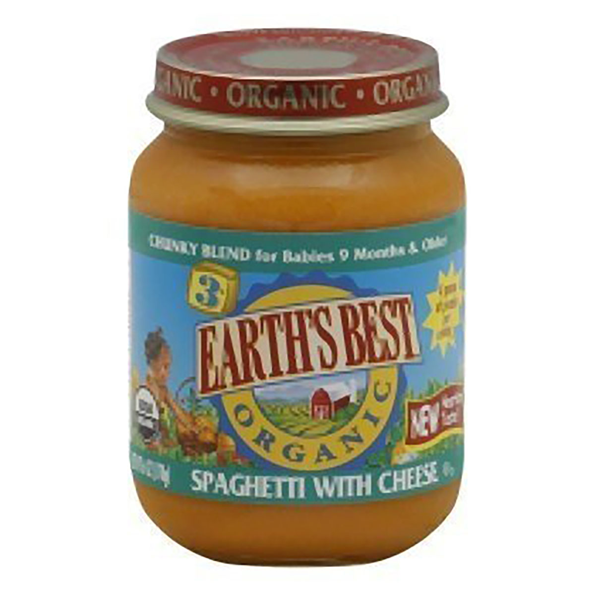 Earth's Best Organic Spaghetti with Cheese Stage 3, 6.0 OZ