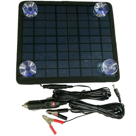 iMeshbean 12V 5W Portable Solar Panel Power Battery Charger Backup for Car Boat (Solar Panels For Boats Best Price)