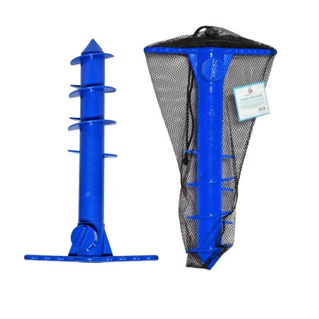 Beach Umbrella Sand Anchor | Sand Auger | Umbrella Holder for Strong Winds | One Size Fits All with Mesh Carry Bag