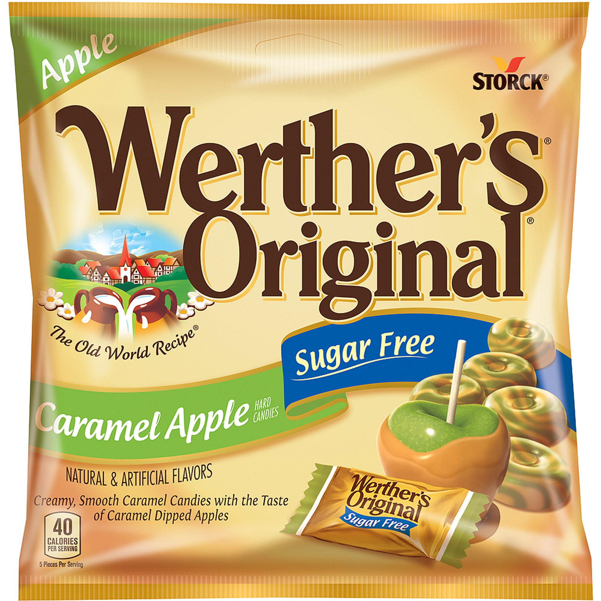 Werthers Sugar Free Caramel Apple Hard Candies, 2.75 oz
