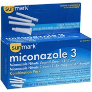 Sunmark Miconazole 3 Vaginal Antifungal Combination Pack Prefilled Applicators, 3 Count