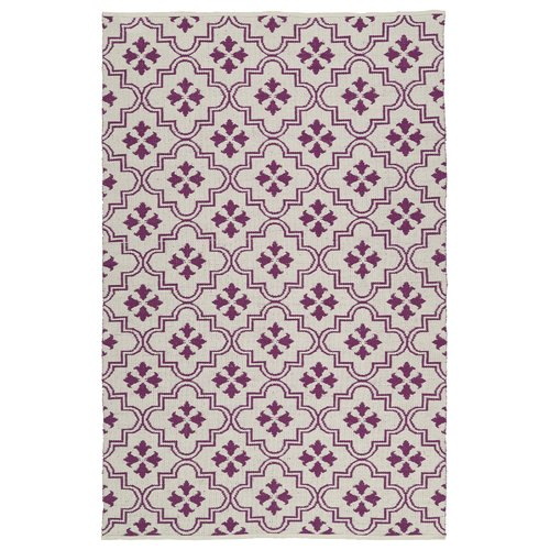 Charlton Home Covington Cream/Purple Indoor/Outdoor Area Rug