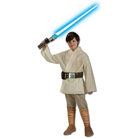 Luke Skywalker Halloween Costumes (Star Wars Deluxe Luke Skywalker Child Halloween)