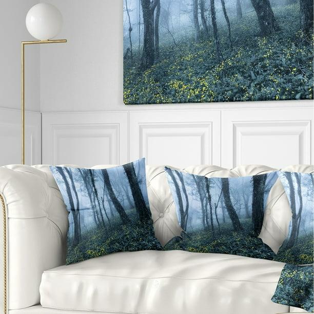 Design Art Designart Trees In Foggy Spring Forest Landscape Photography Throw Pillow Walmart Com Walmart Com