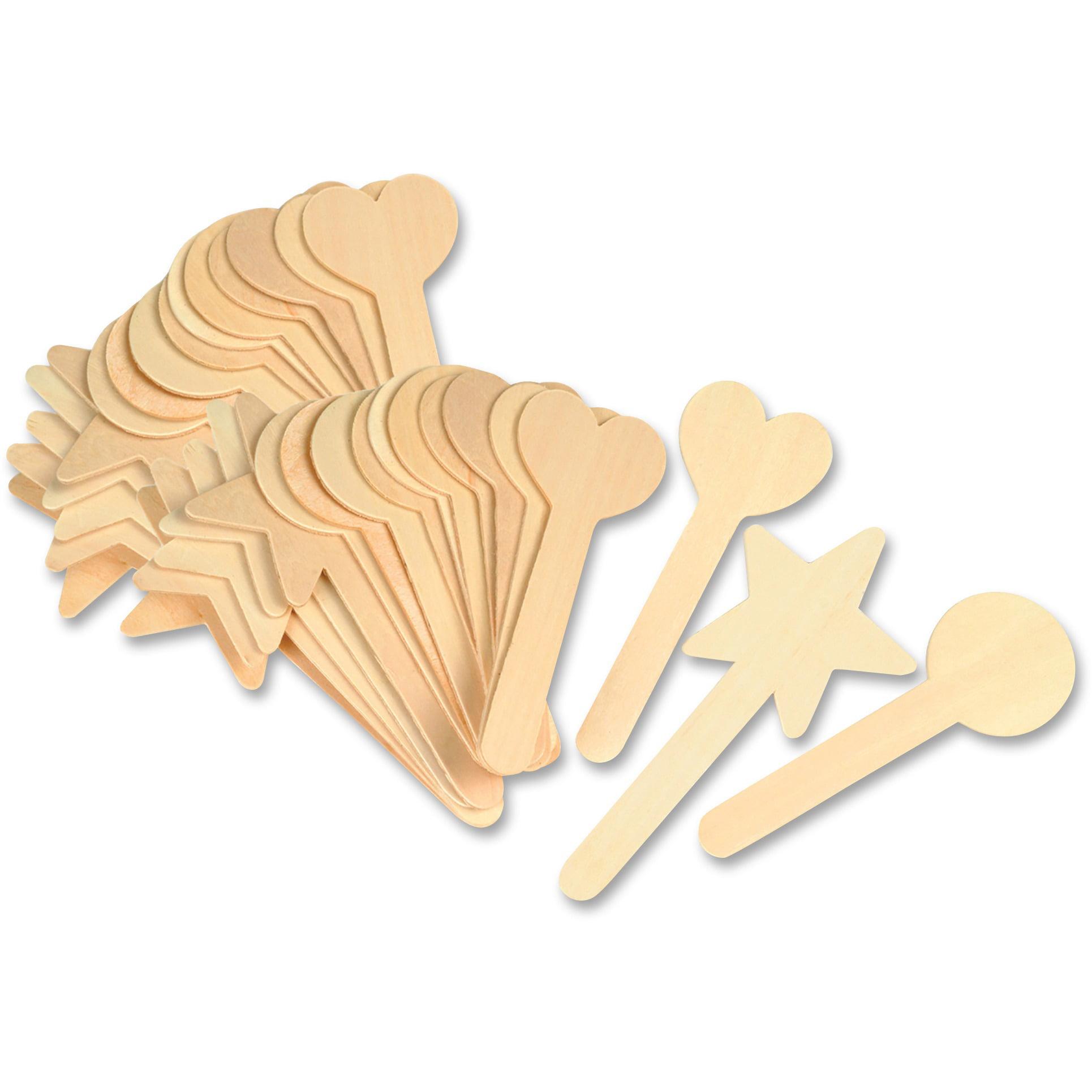 Creativity Street, CKC362902, Geometric Shapes Wood Craft Sticks, 36 / Pack, Natural