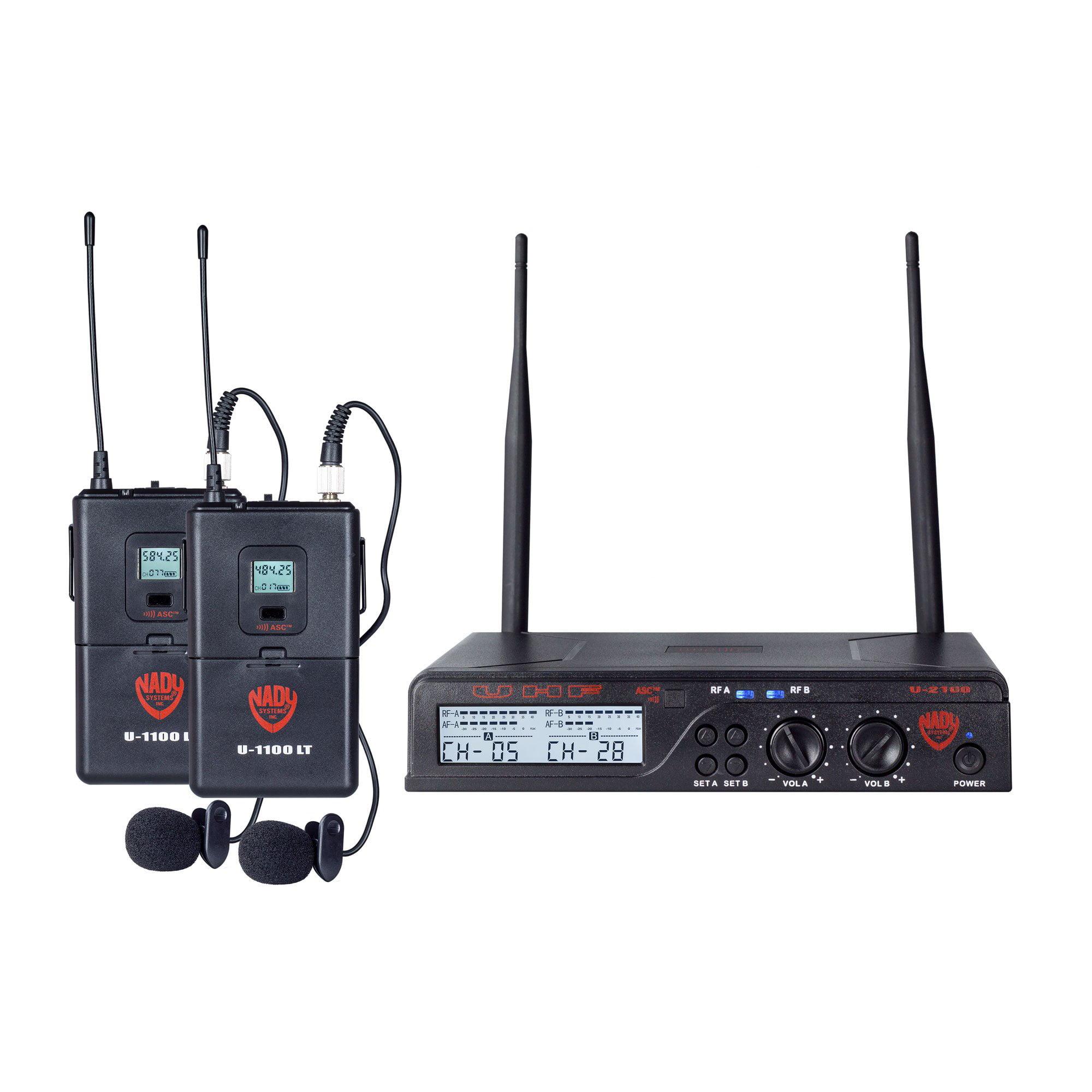 Nady U-2100LT/O(BANDA/B) U-2100 Lt/o [band A/b] Uhf Dual 100-channel Wireless Lavalier Handheld Microphone System
