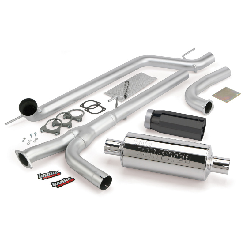Banks Power 04-14 Nissan 5.6L Titan (All) Monster Exhaust System - SS Single Exhaust w/ Black Tip