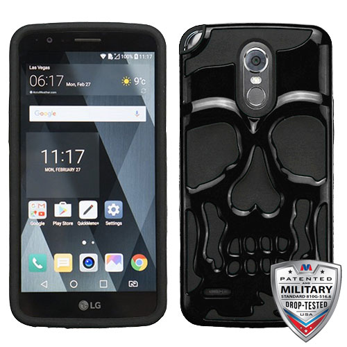 For LG Stylo 3/Plus Skullcap Hybrid Impact Armor Phone Protector Case Cover