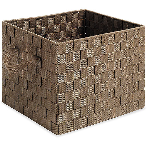 Whitmor Woven Strap Crate, Multiple Colors