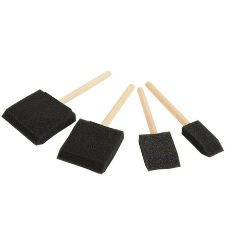 20-Pack Foam Paint Brush Set - 4 Different Sizes Poly Foam Sponge Brushes with Wooden Handles - Value Pack - Great for Acrylics, Oil Stains, Varnishes, Watercolor, Painting, Crafts, Art - image 3 de 7