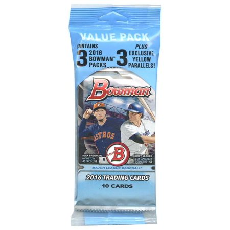 Mlb 2016 Bowman Baseball Cards Value Pack