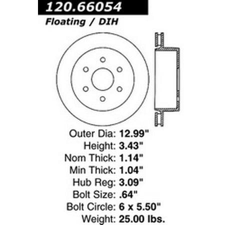 Power Slot 126.66054CSR Brake Rotor Cryo -