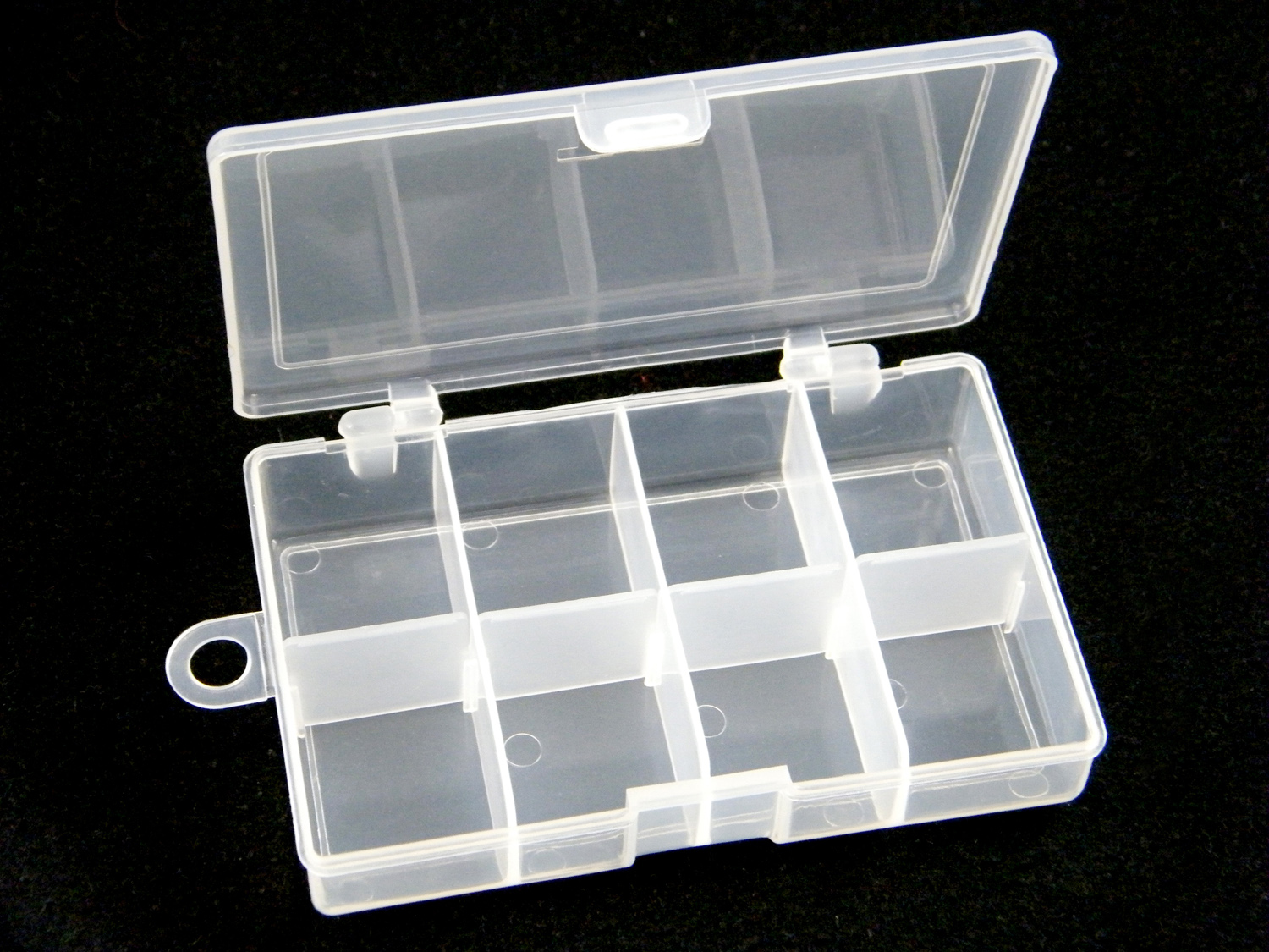 3 Pcs Lot QualyQualy 4.7*2.1*1.1in Plastic Fishing Tackle Box For Fishing Accessories Swivels Hooks 10 Slots by