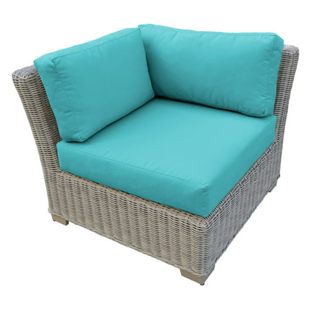 TK Classics Coast Wicker Patio Corner Sofa ()