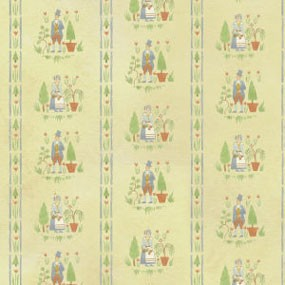Dollhouse 6 Pack Wallpaper: Colonial Gardens