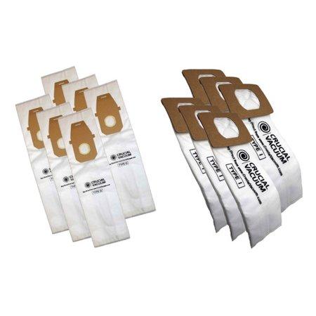 Crucial 12 Piece Hoover Platinum Combo Bag Set