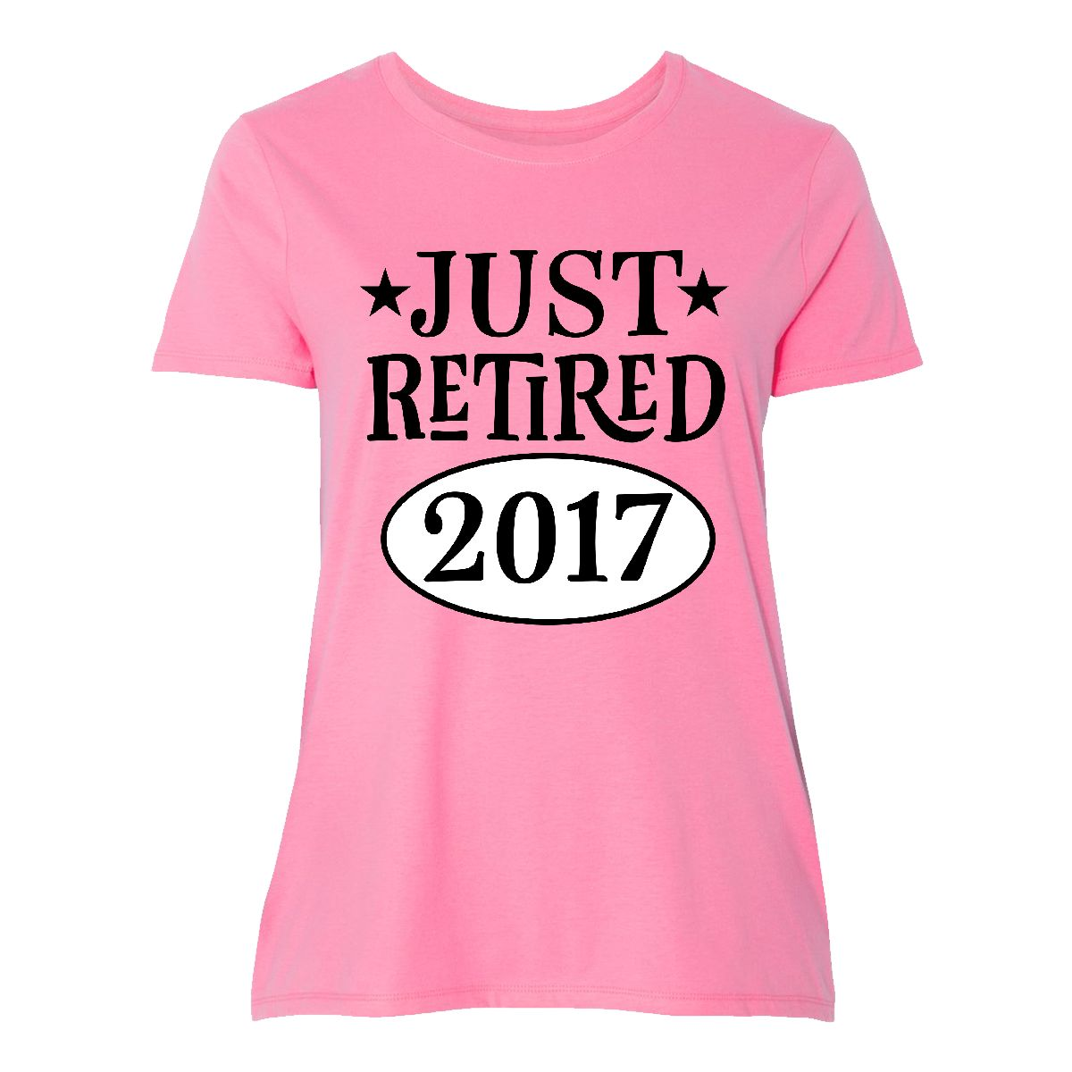 Inktastic Just Retired 2017 Retirement Gift Women's Plus Size T-Shirt Party My