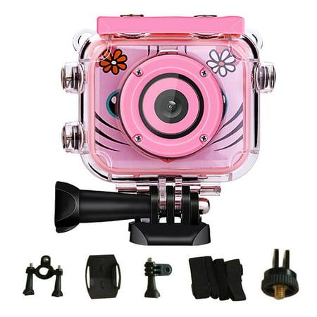 Kids Camera Underwater Digital Camera-IP68 Waterproof Toddler Camera,Video Recorder Action Preschool camera,2.0 Inch LCD Display, Flash for