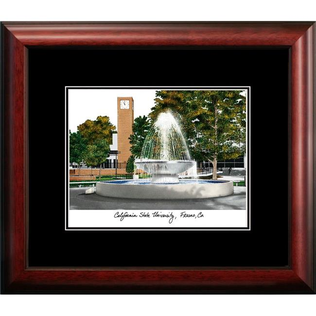 Campus Images CA920LR California State Fresno Legacy Alumnus Framed Lithographic Print Multicolor