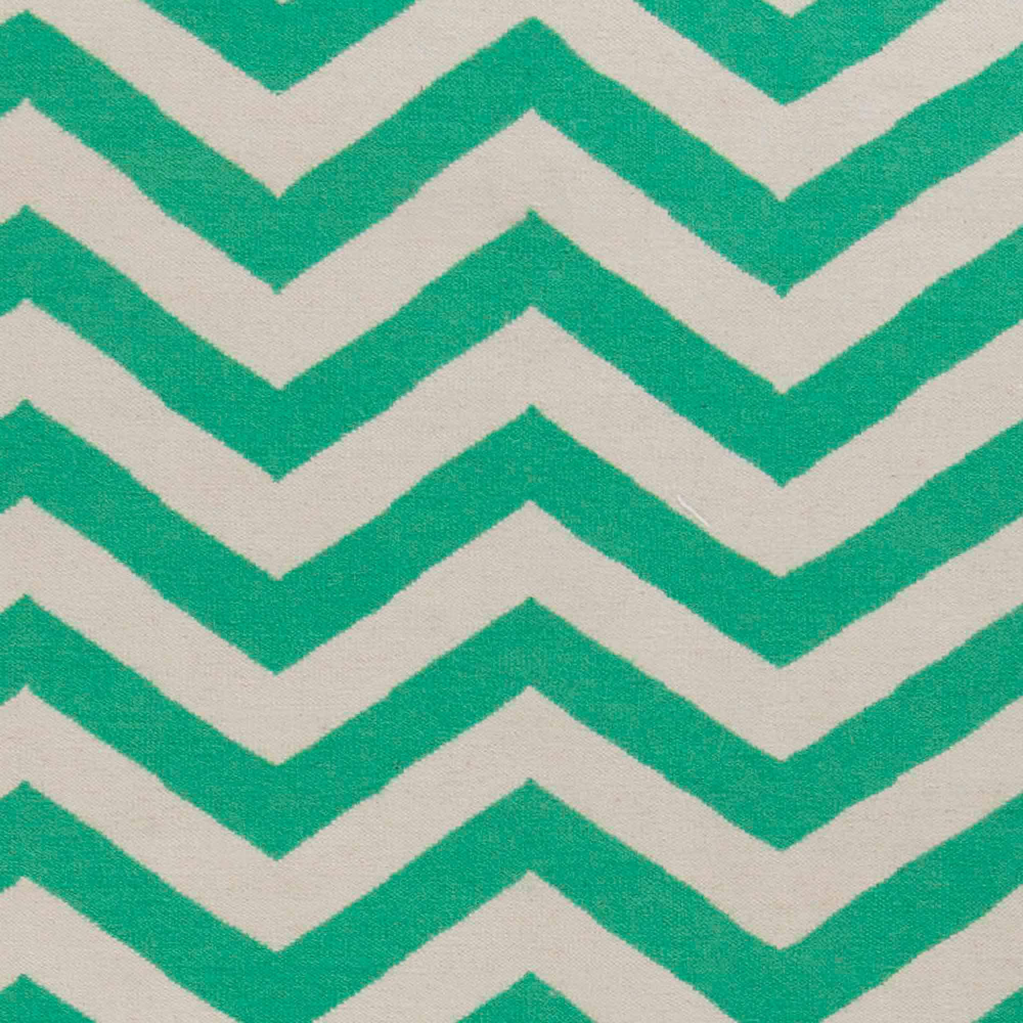 Art of Knot Laughlin Hand Woven Chic Chevron Flatweave Wool Area Rug, Mint