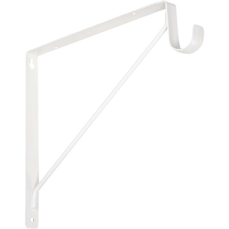 Knape & Vogt Fixed Shelf & Rod Bracket - Fixed Camera Bracket Clear Window