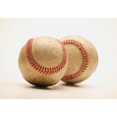 Two Dirty Baseballs Stretched Canvas - Darren Greenwood  Design Pics (16 x 11) - Dirty Halloween Pic
