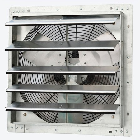 2 Stage Variable Speed Furnace (iLiving 18 Inch Variable Speed Wall Mounted Steel Shutter Exhaust Fan (2 Pack) )