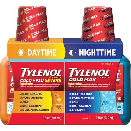 Tylenol Cold Flu Night Day Twin Pack 8 Fl Oz