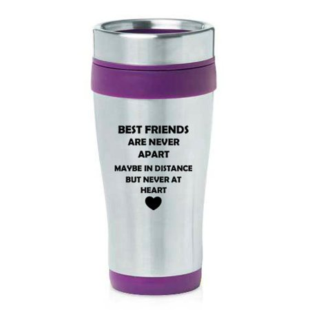 16 oz Insulated Stainless Steel Travel Mug Best Friends Long Distance Love