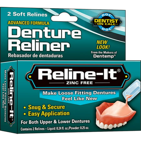 D.O.C. Reline-It Advanced Denture Reliner Kit (Pack of 2)