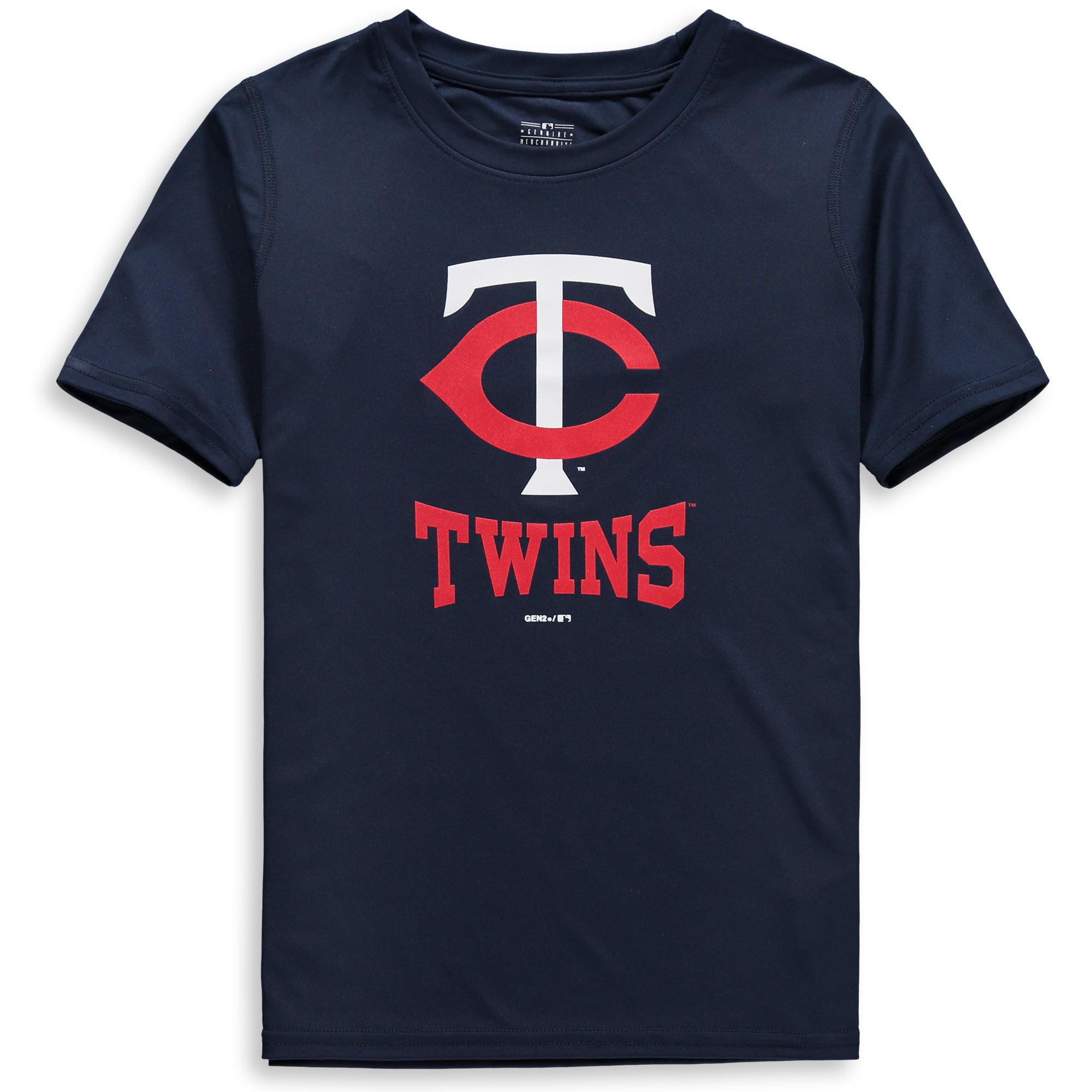 Minnesota Twins Youth Link Up Dri-Tek T-Shirt - Navy