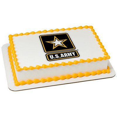 US Army Edible Icing Image for 1/4 sheet cake