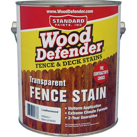 Wood Defender Transparent Fence Stain LEATHERWOOD