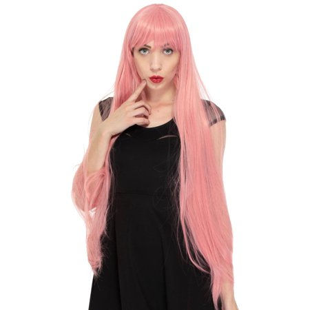 Women S 40 100cm Long Straight Full Hair Anime Costume Cosplay Wigs
