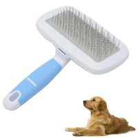 Pet Hair Combs Stainless Steel Needle Hairdressing Brush Tool with Small Comb, Large, Total Length: 16cm (Random Color)