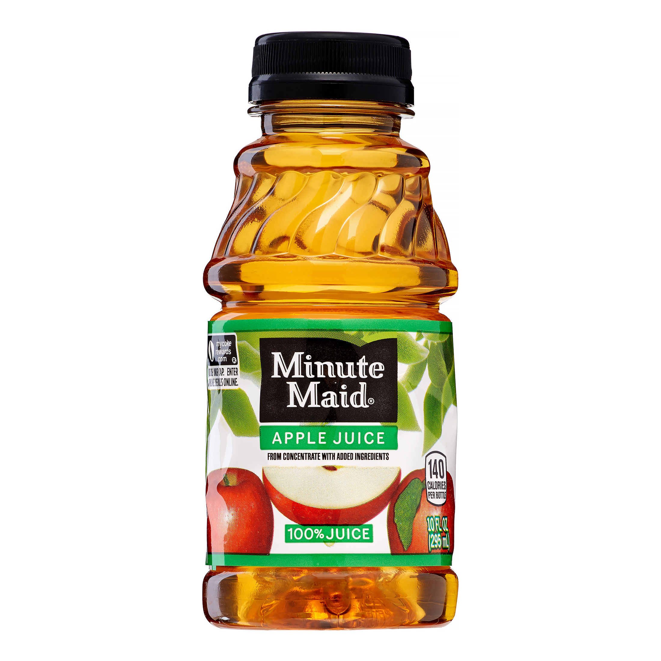 (2 Pack) Minute Maid 100% Juice, Apple, 10 Fl Oz, 6 Count