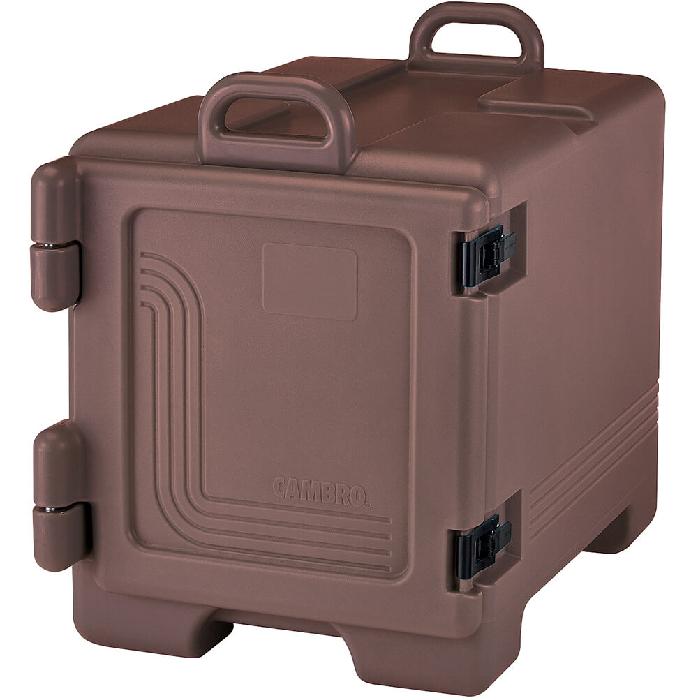 Cambro Insulated Front Loading Food Carrier, Full Size Pans, Dark Brown, UPC300-131