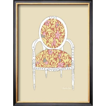 Decorative Chair I Framed Art Print Wall Art By Chariklia Zarris - Decorative-floral-print-chairs-from-floral-art