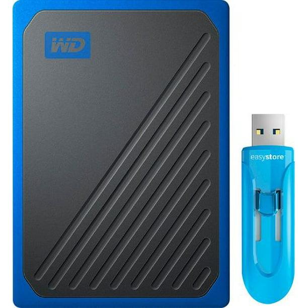 Western Digital My Passport Go 1TB USB 3.0 Portable External Solid State Drive + 64GB Easystore USB Flash Drive