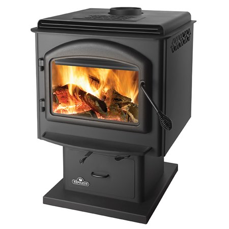 Napoleon 1400 70000 BTU Free Standing Direct Vent 2.25 Cubic Ft Wood Stove with ()