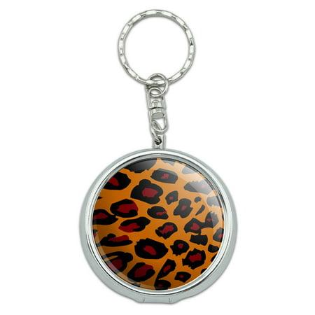 Leopard Animal Print Portable Ashtray Keychain (Animal Keychains)