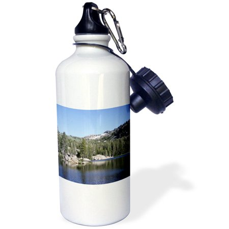 3dRose Winter Reflections- Landscapes- Mountains- Trees- Lakes, Sports Water Bottle, 21oz