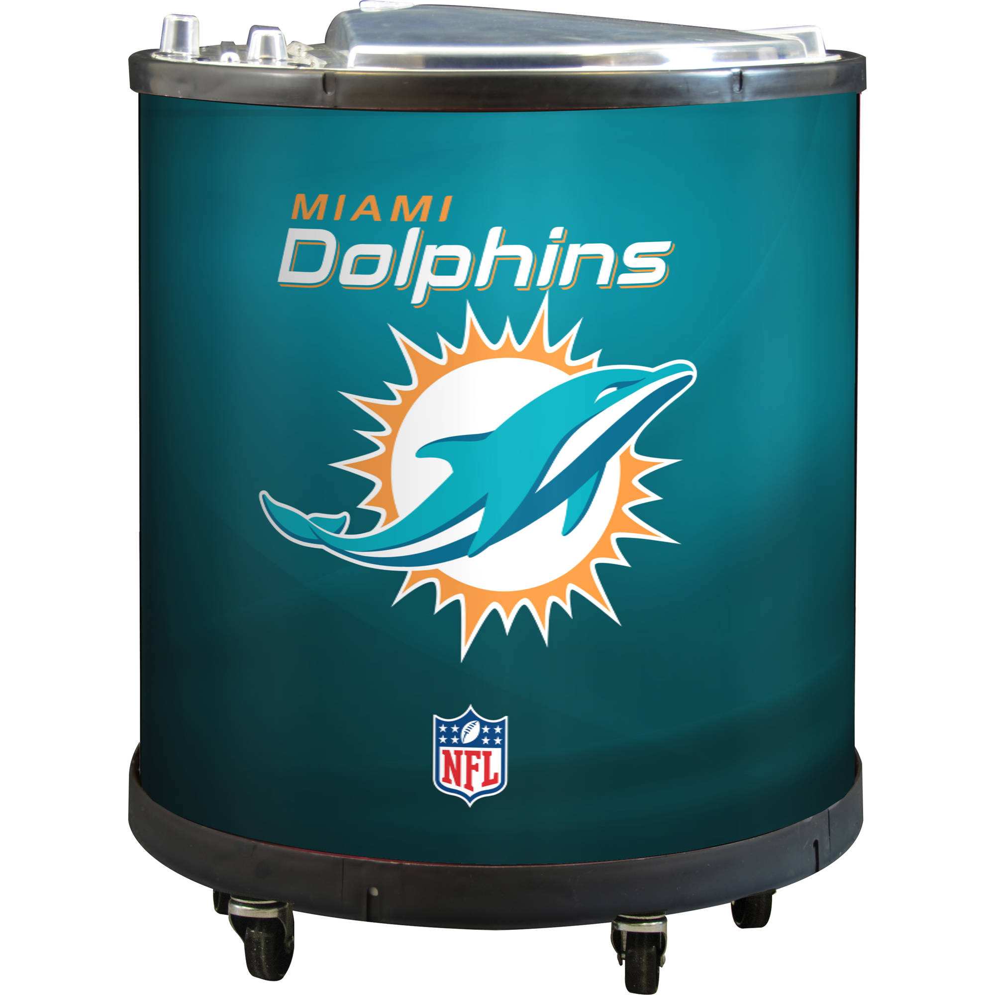 NFL Mini Ice Barrel Cooler, Miami Dolphins