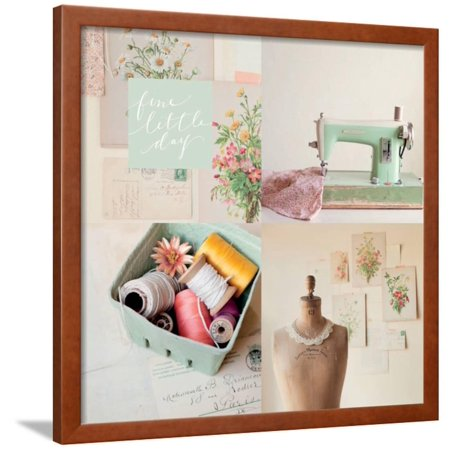 Fine Little Day for Sewing Framed Print Wall Art By Mandy Lynne Photography