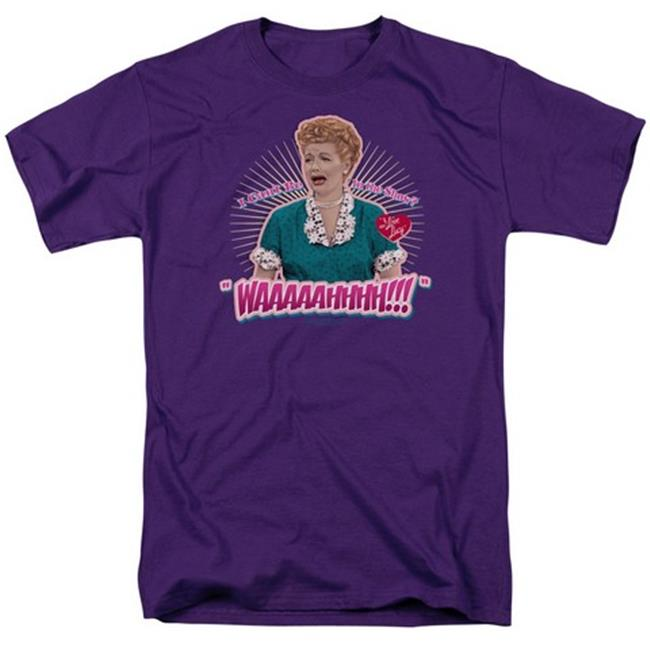 Lucy-Waaaaahhhh Short Sleeve Adult 18-1 Tee, Purple - Small - image 1 of 1