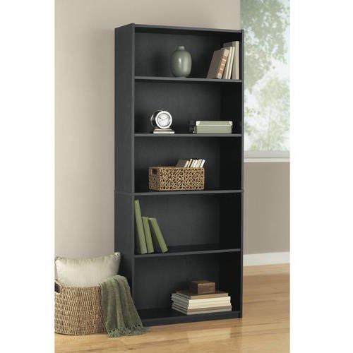 ... Mainstays 5-Shelf Wood Bookcase, Multiple Colors