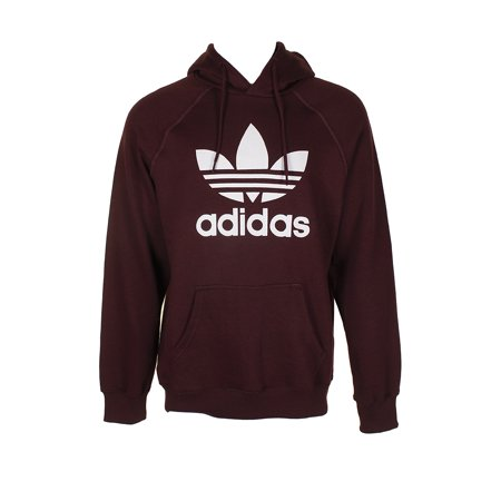 Adidas Men's Trefoil Logo Graphic Pouch Pocket Pullover Hoodie (Adidas Top 10)